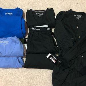 Greys anatomy 8 piece scrubs bundle
